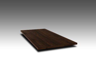 Nussbaum Tischplatte mit Ast und Splint 4 cm nach Maß