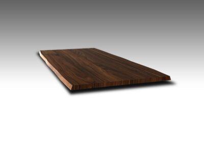 Tischplatte Nussbaum Baumkante Ast und Splint 4 cm nach Maß