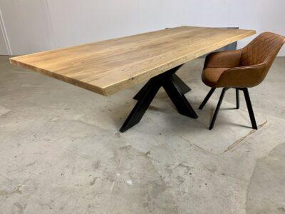 Massivholz Esstisch Baumkante Eiche Alexa