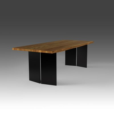 Tischwagen Esstisch Eiche aus massivem Stahl