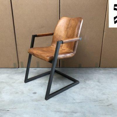 Echtleder Freischwinger Stuhl