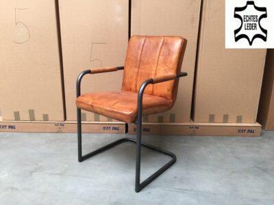 Echtleder Stuhl 127BLP