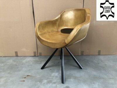 Schalenstuhl drehbar Leder BL182D