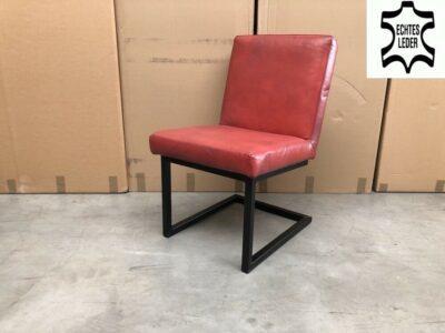 Büffelleder Freischwinger Stuhl BL115