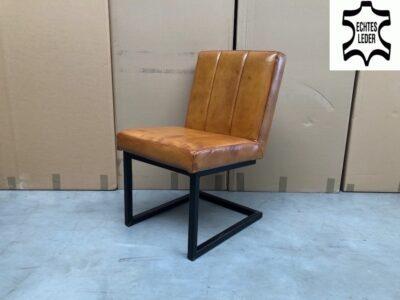 Leder Freischwinger Stuhl 135BL