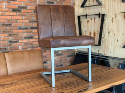Leder Freischwinger Stuhl
