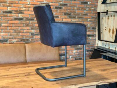 Freischwinger Stuhl Leder