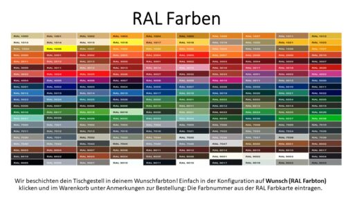 RAL Farbton Tischgestelle