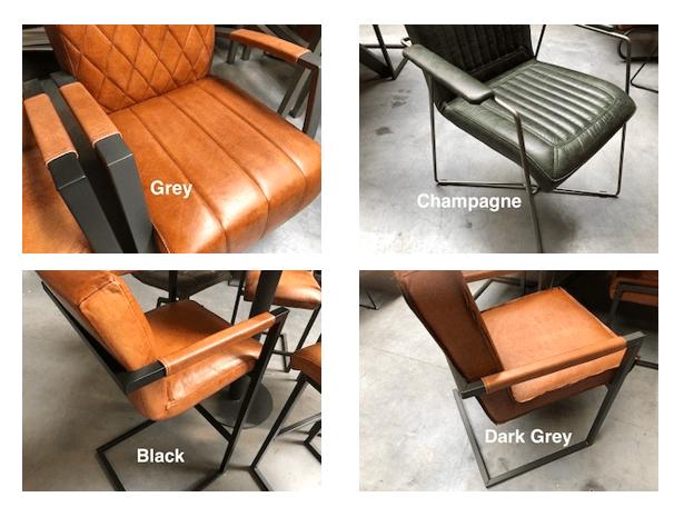 Untergestell Stühle Büffelleder