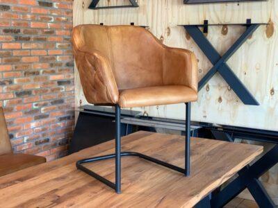 Leder Freischwinger Stuhl BL158F