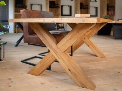 Tischbeine Holzkreuz Eiche