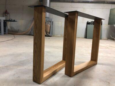 Holz Tischgestell Eiche Luna