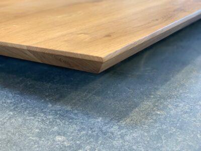 Tischplatte Eiche Schweizer Kante