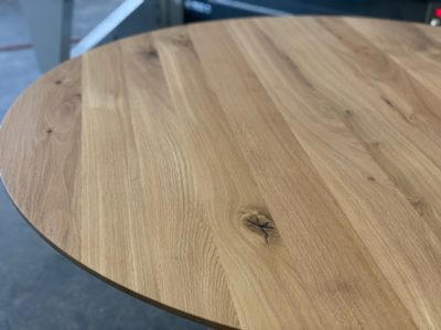 Runde Tischplatte Schweizer Kante