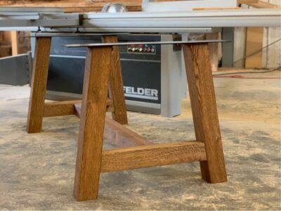 Massivholz Tischgestell Eiche Paso