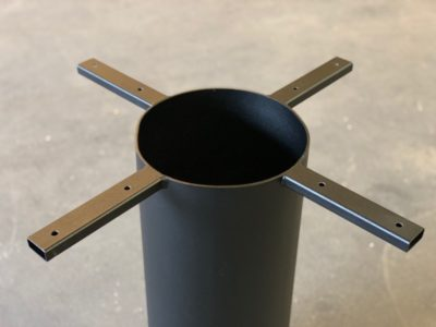 Mittelfuß Tischgestell rund Säulo
