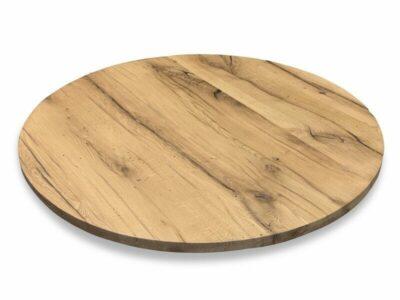 Runde Tischplatte Altholz 6 cm